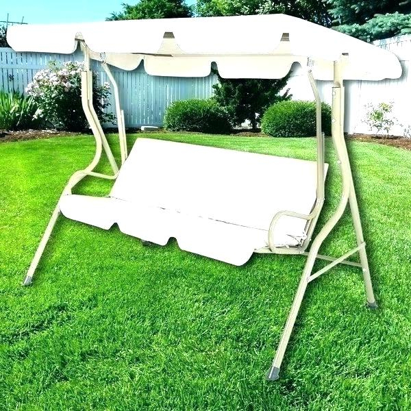 Newest 3 Seat Glider Patio Swing Canopy Hammock Home Bench With Pertaining To Patio Glider Hammock Porch Swings (View 12 of 20)