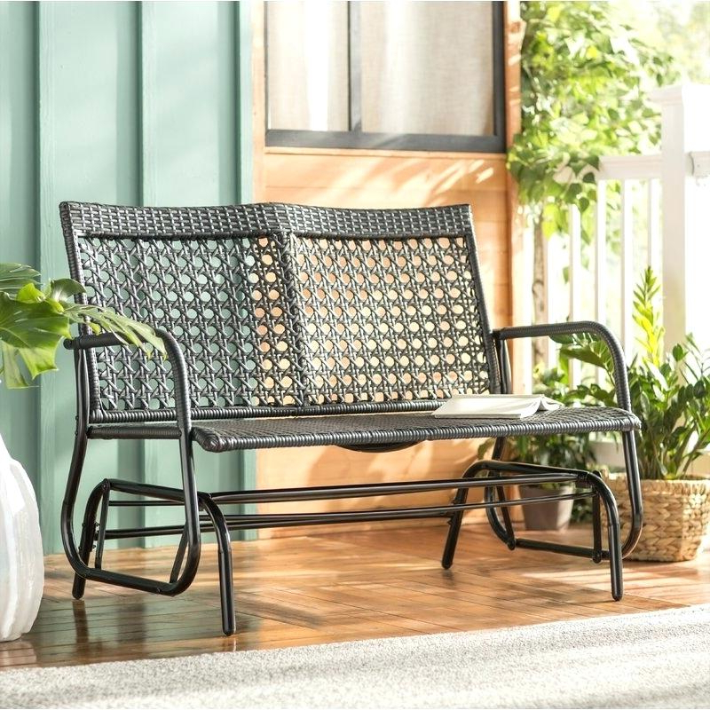 Newest Speckled Glider Benches Pertaining To Outdoor Double Glider – Techvay (View 6 of 20)