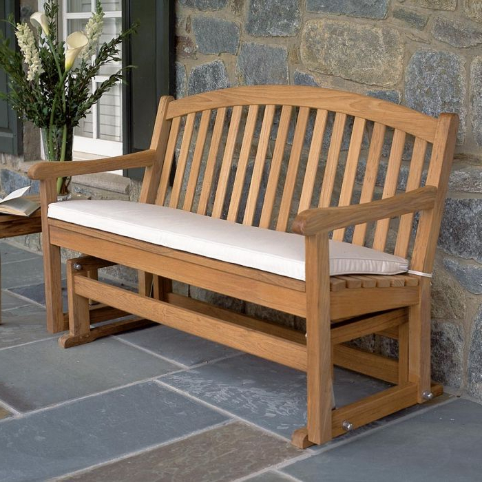 Newest Teak Glider Benches Throughout Carlisle Glider (Gallery 11 of 20)