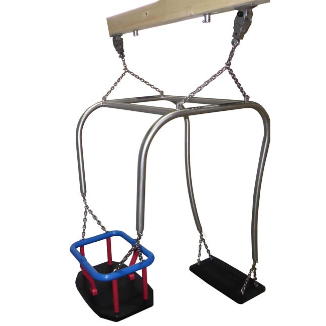 Newest Toddler And Parent Stainless Steel Swing Frame Including Flat Seat, Toddler  Seat And Suspension Chains (View 6 of 20)