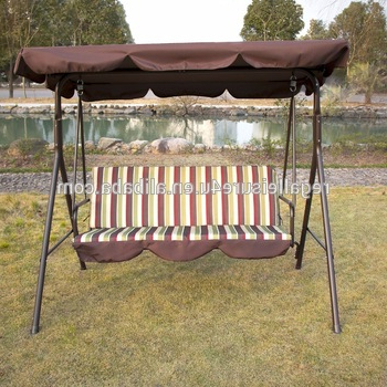 Outdoor 3 Person Patio Cushioned Porch Swing Swg 000111 – Buy 3 Person  Swing With Canopy,canopy Patio Swings,patio Swing With Canopy Product On Inside Well Known Porch Swings (View 9 of 20)