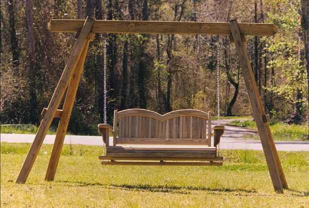 Outdoor Bench Swing, Bench Throughout Latest Rosean Porch Swings (View 11 of 20)