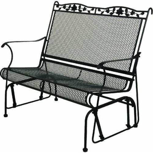 Outdoor Chairs, Lawn For Metal Powder Coat Double Seat Glider Benches (View 14 of 20)