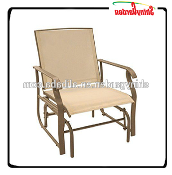 Outdoor Patio Single Seat Swing Bench Glider Rocking Chair – Buy Patio Glider Bench Swing,patio Glider Rocking Chairs,single Seat Swing Chair Product Throughout Newest Outdoor Patio Swing Glider Bench Chair S (View 11 of 20)