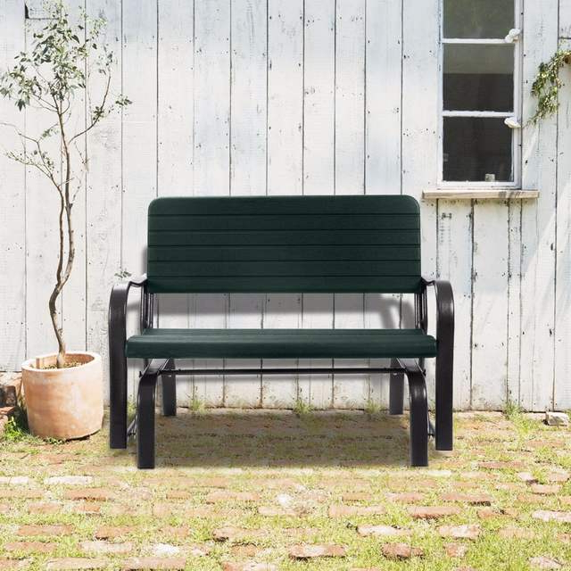 Outdoor Patio Swing Porch Rocker Glider Benches Loveseat Garden Seat Steel Intended For Most Up To Date Us $ (View 1 of 20)