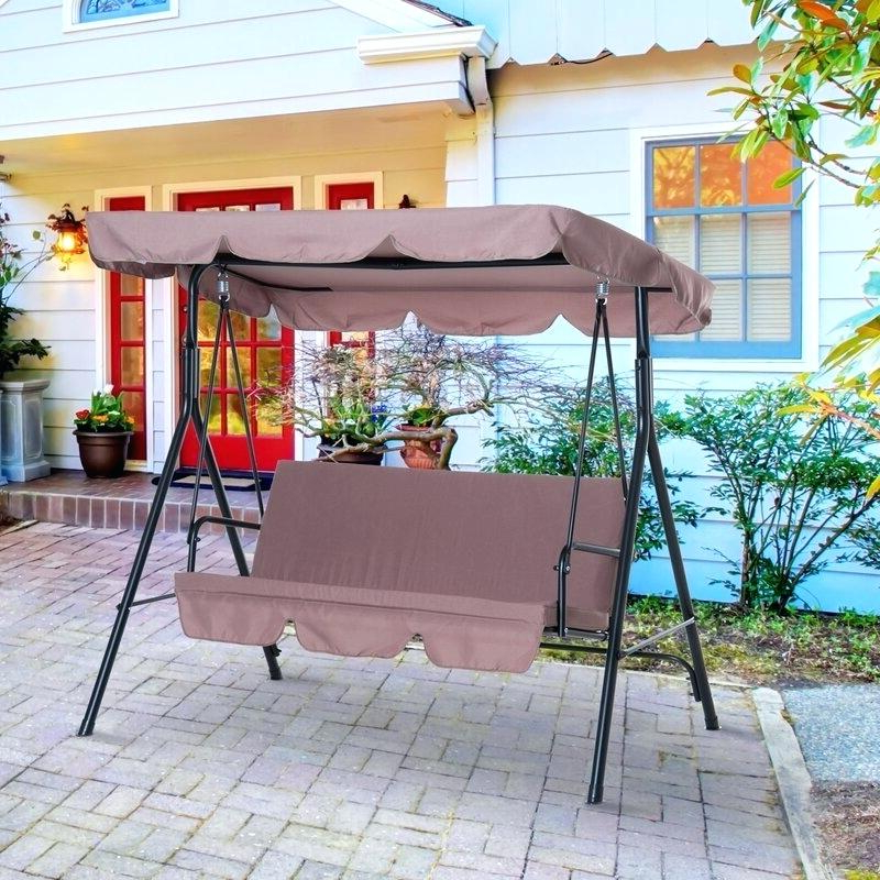 Outdoor Patio Swing With Canopy – Magically In Popular Patio Gazebo Porch Canopy Swings (View 15 of 20)