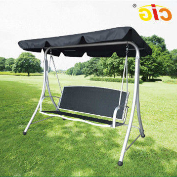 Outdoor Pvc Coated Polyester Porch Swings With Stand With Well Known China 3 Seat Metal Frame Outdoor Patio Swing With Canopy (View 8 of 20)