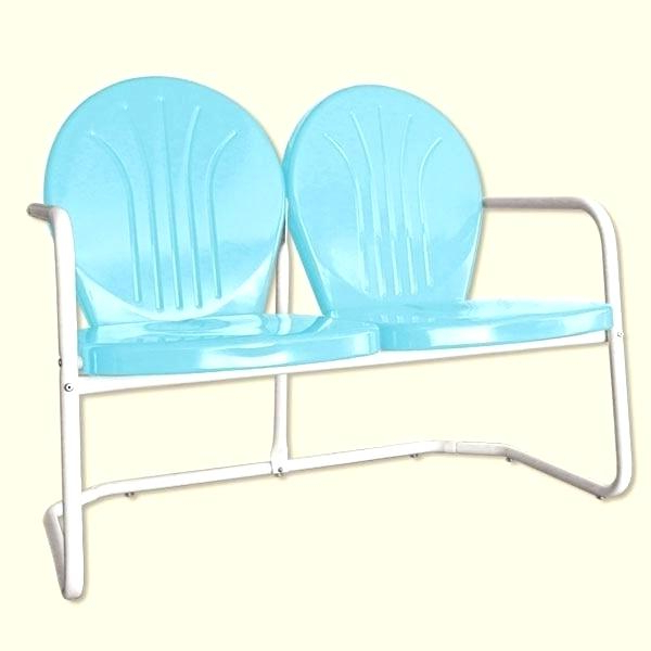 Outdoor Retro Metal Double Glider Benches Pertaining To Most Recently Released Patio Double Glider – Sigpot (View 3 of 20)
