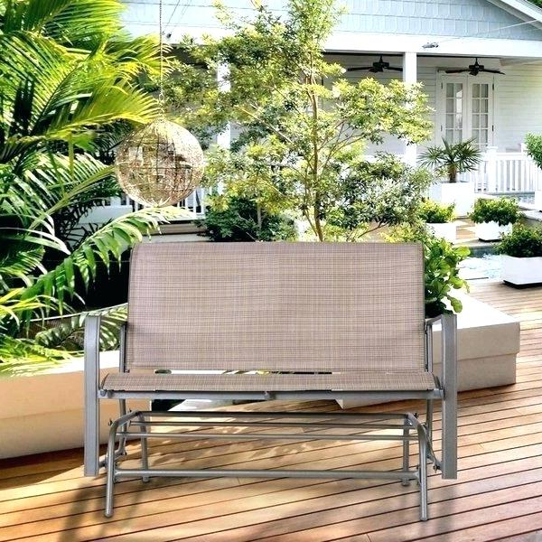 Outdoor Rocking Bench – Mutualrespect With Regard To Favorite Outdoor Patio Swing Glider Bench Chairs (View 15 of 20)