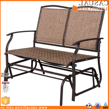 Outdoor Steel Patio Swing Glider Benches For Well Known Outdoor Swing Glider For 2 Person Patio Loveseat Bench Rocking Chair – Buy Outdoor Glider Chair,patio Loveseat Bench Rocking Chair,outdoor Swing (View 11 of 20)