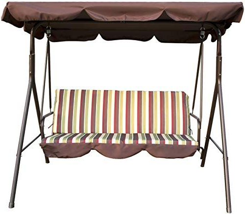 Outdoor Steel Patio Swing Glider Benches Regarding 2019 Enjoy Exclusive For Sliverylake Outdoor 3 Person Porch (View 19 of 20)