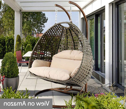 Outdoor Wicker Plastic Half Moon Leaf Shape Porch Swings Within 2020 Best Porch Swing Chairs Reviews And Buyers Guide (View 5 of 20)