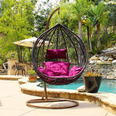 Featured Photo of Outdoor Wicker Plastic Tear Porch Swings With Stand