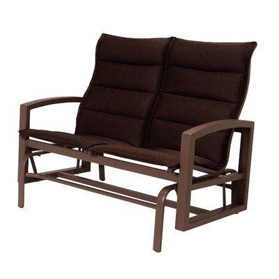 Padded Sling Double Glider Benches In Well Known Tropitone Lakeside Padded Sling Double Glider Cushion Color (Gallery 2 of 20)