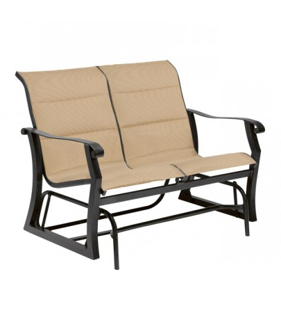 Padded Sling Double Gliders Throughout Widely Used Woodard Cortland Padded Sling Double Glider (Gallery 5 of 20)