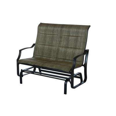 Padded Sling Double Gliders With Best And Newest Statesville Metal Patio Outdoor Double Glider (Gallery 18 of 20)