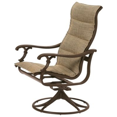 Padded Sling High Back Swivel Chairs Intended For Preferred Tropitone 650770ps Ravello Padded Sling High Back Swivel (View 10 of 20)