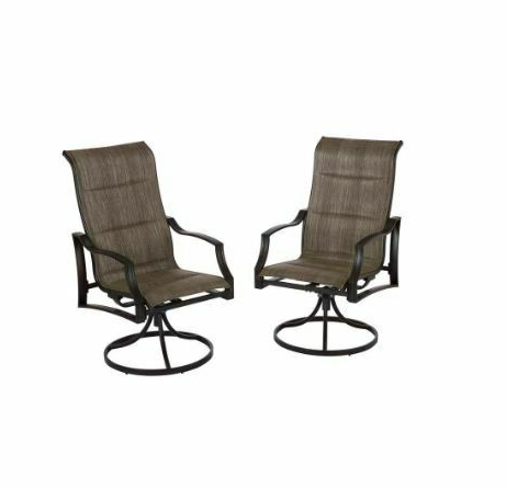 Padded Sling Loveseats With Cushions Throughout 2020 Hampton Bay Statesville Padded Sling Swivel Outdoor Patio (View 10 of 20)