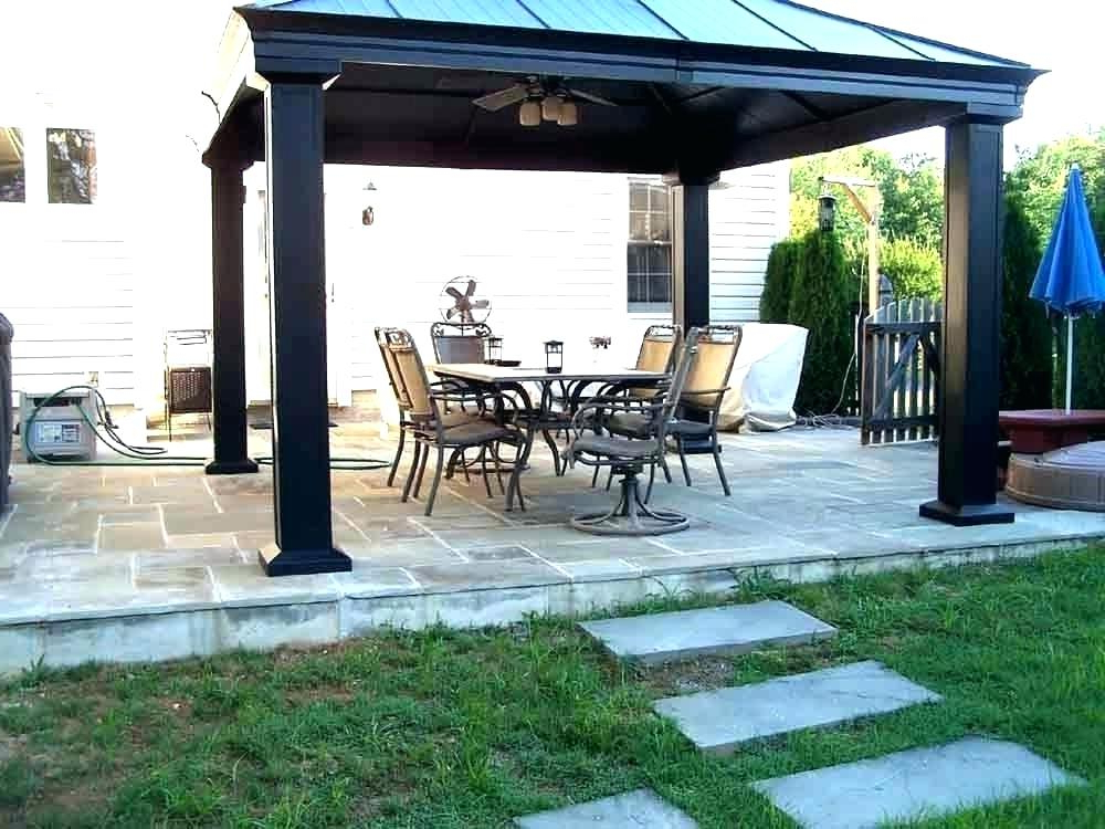 Patio Canopy Home Depot – Sigpot Regarding Most Current Patio Gazebo Porch Canopy Swings (Gallery 16 of 20)
