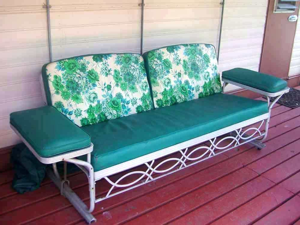 Patio Double Glider – Sigpot In Best And Newest Outdoor Retro Metal Double Glider Benches (Gallery 12 of 20)