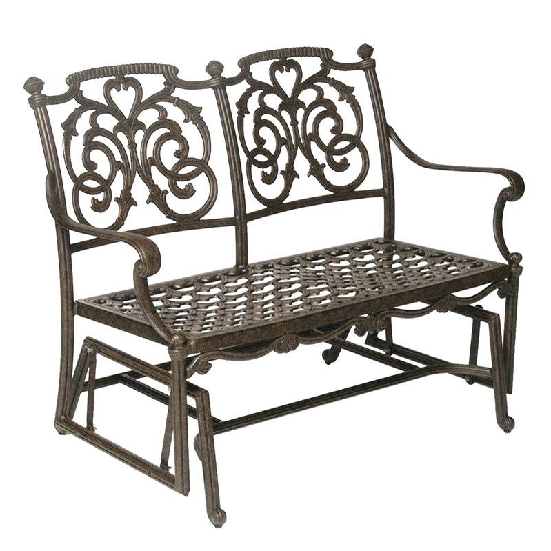 Patio Double Glider – Sigpot In Famous Iron Double Patio Glider Benches (View 7 of 20)