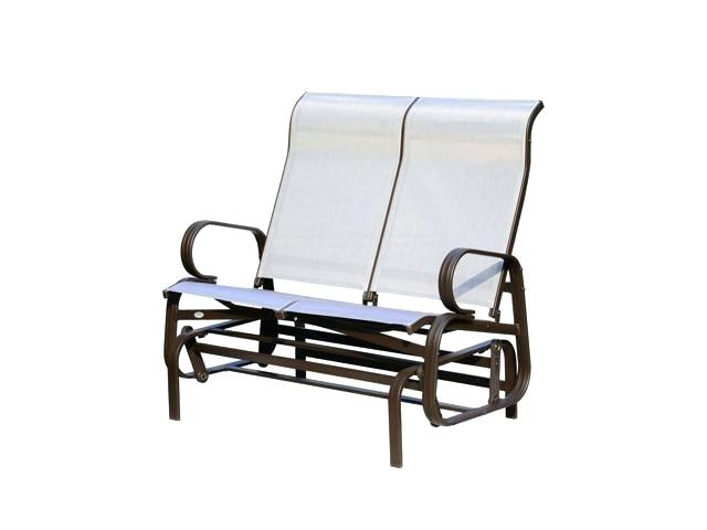 Patio Double Glider – Sigpot Intended For Famous Outdoor Fabric Glider Benches (View 11 of 20)