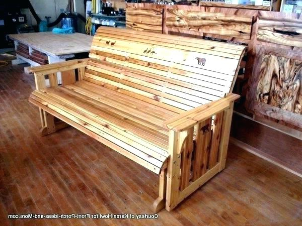 Patio Furniture Swings And Gliders – Sigpot With Regard To Preferred Hardwood Porch Glider Benches (Gallery 11 of 20)