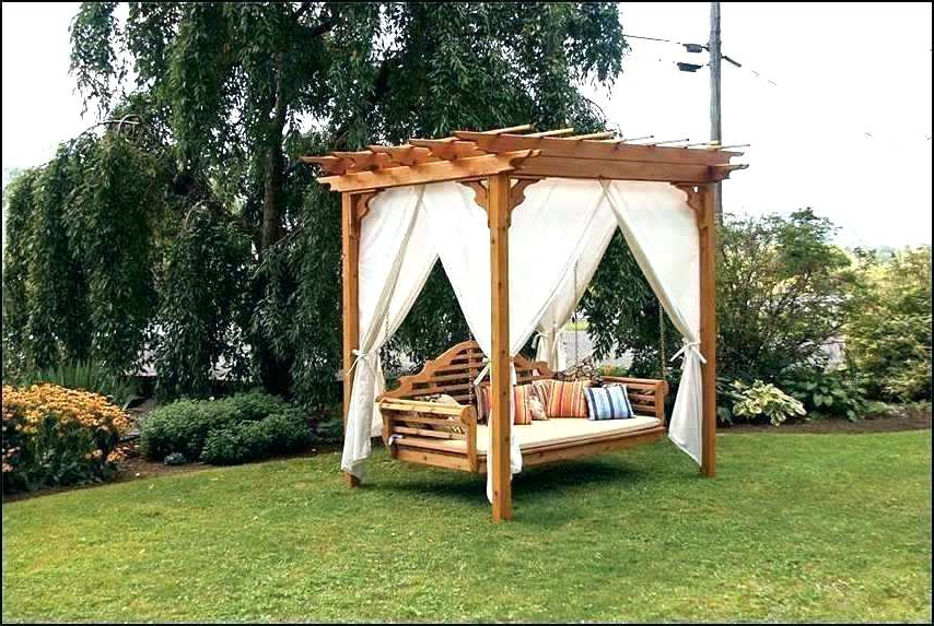 Patio Gazebo Porch Canopy Swings For Most Popular Outside Swing Bed Screened In Back Porch Makeover New (View 20 of 20)