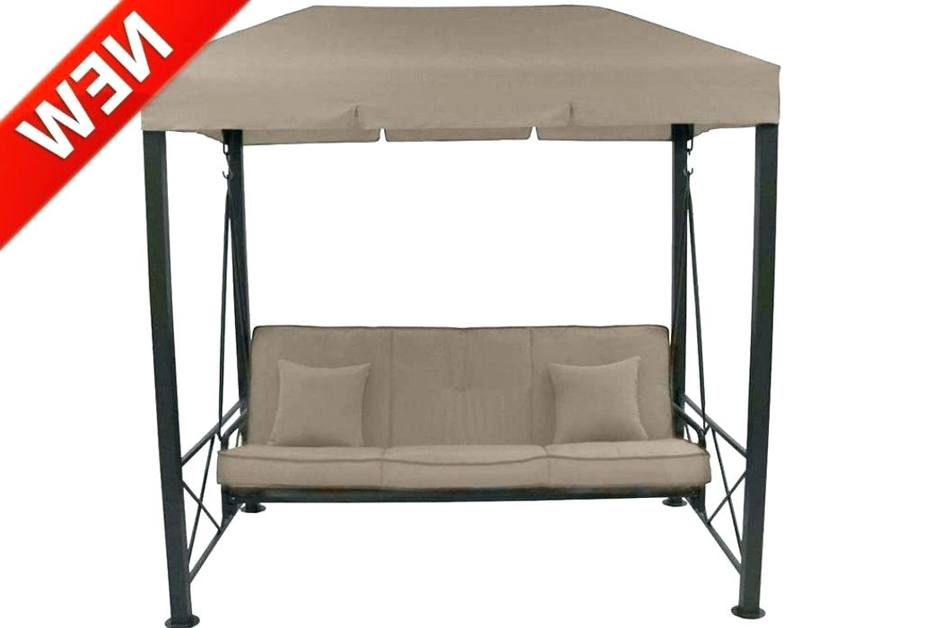 Patio Gazebo Porch Canopy Swings Pertaining To 2019 Porch Swing Cushions Clearance – Maidcleanlv (Gallery 13 of 20)