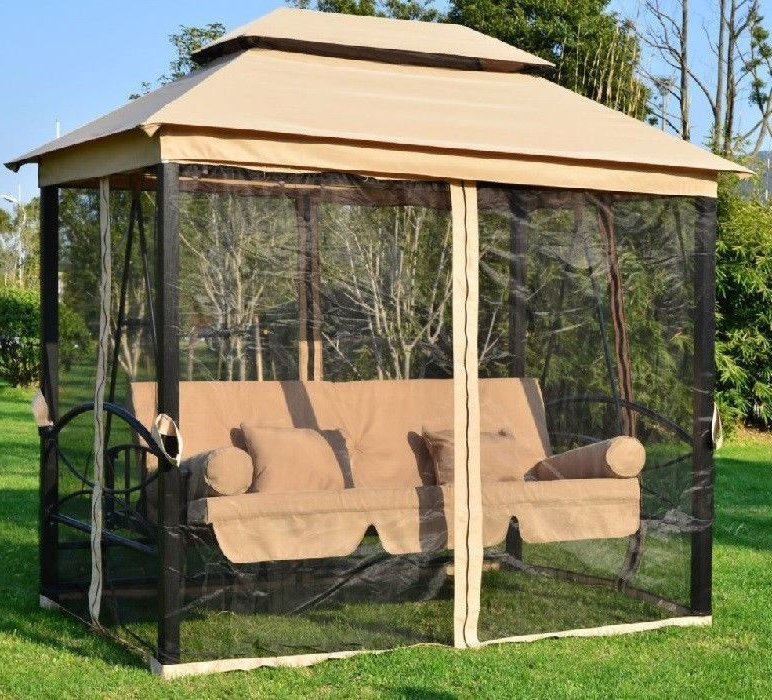 Patio Gazebo Porch Canopy Swings Pertaining To Best And Newest 10+ Irresistible Backyard Canopy Flower Ideas In 2019 (Gallery 8 of 20)