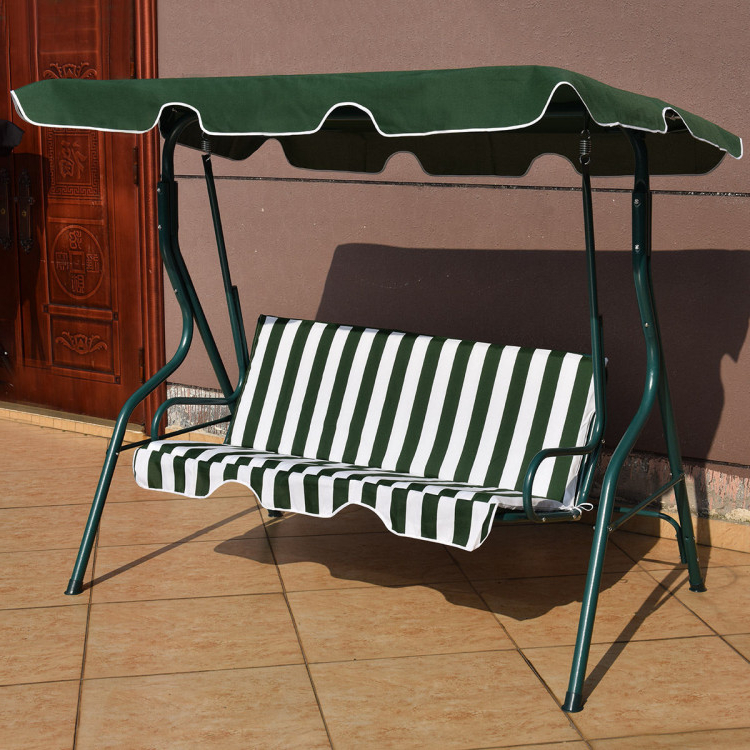 Patio Glider Hammock Porch Swings For Widely Used 3 Seats Patio Canopy Cushioned Steel Frame Swing Glider (Gallery 8 of 20)