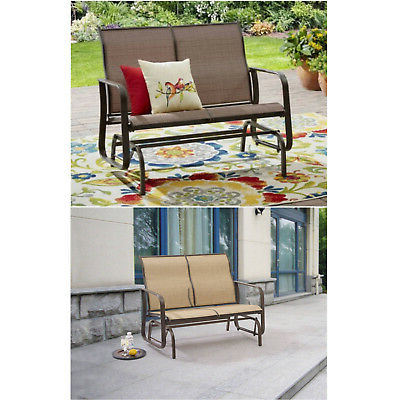 Patio Glider Porch Rocking Bench Outdoor Steel Furniture 2 Intended For Most Recently Released Outdoor Patio Swing Porch Rocker Glider Benches Loveseat Garden Seat Steel (View 17 of 20)