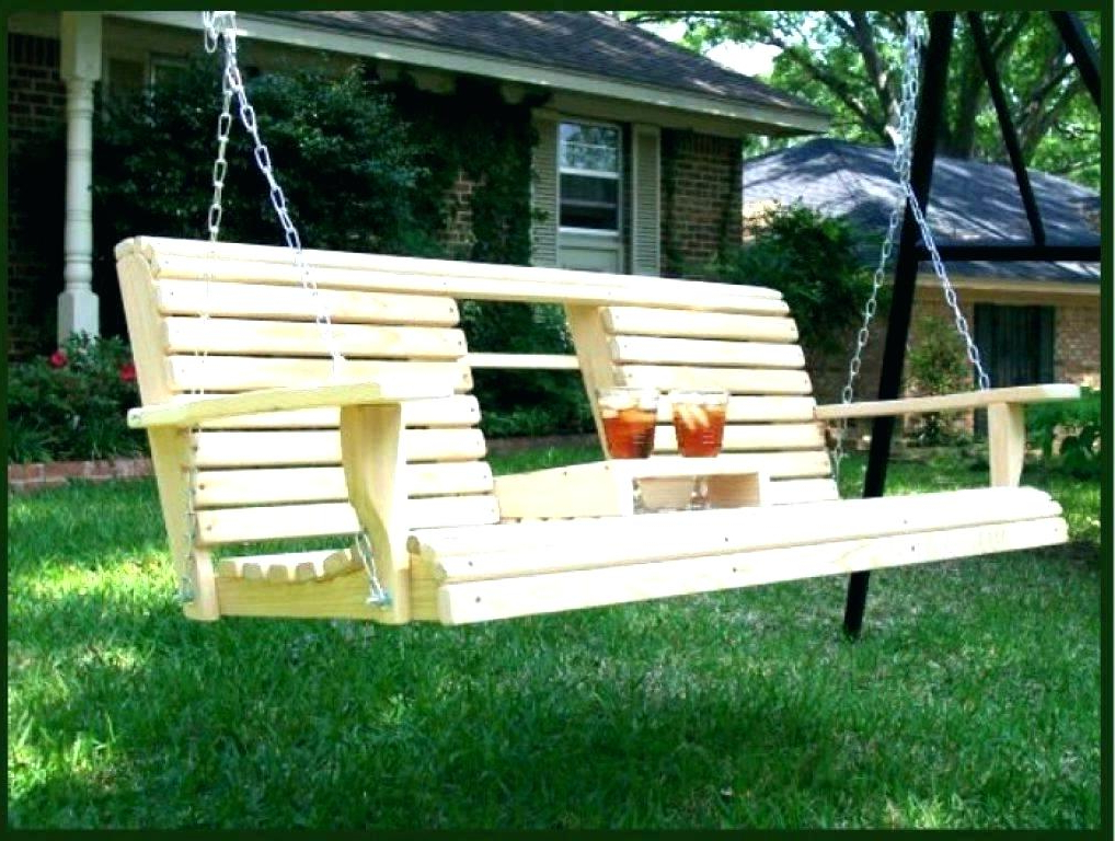 Patio Hanging Porch Swings Pertaining To Most Current Wooden Hanging Porch Swing – Xanavi.biz (Gallery 10 of 20)
