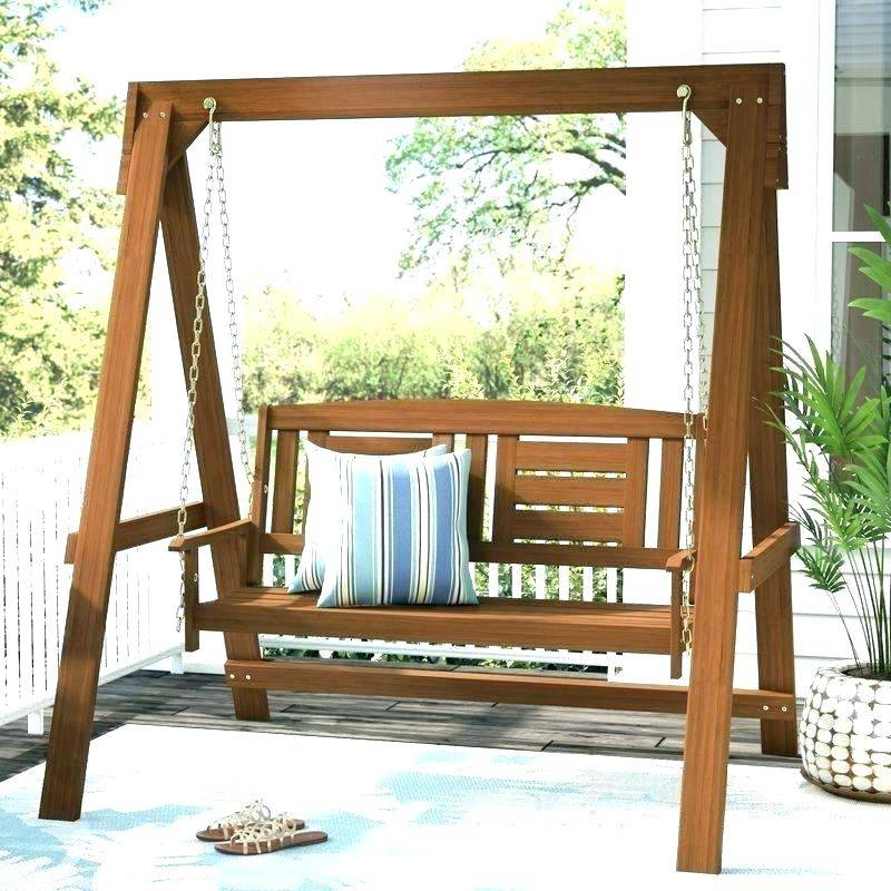 Patio Hanging Porch Swings Regarding Well Liked Hanging Porch Swing Outdoor Round Hardwood Eddy Engaging (View 18 of 20)