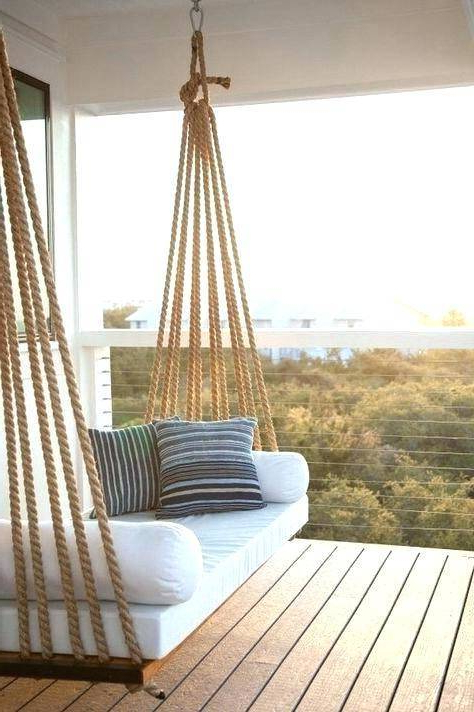 Patio Hanging Porch Swings With Regard To Latest Bedrooms Outdoor Porch Swings Round Swinging Beds Hanging (Gallery 15 of 20)