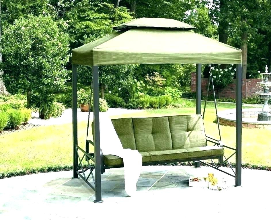 Patio Outdoor Swing Canopy Replacement Porch Cover – See The In Well Liked Patio Gazebo Porch Swings (View 4 of 20)