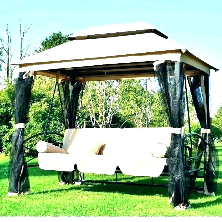 Patio Outdoor Swing Canopy Replacement Porch – See The Home Pertaining To Popular Patio Gazebo Porch Swings (Gallery 11 of 20)