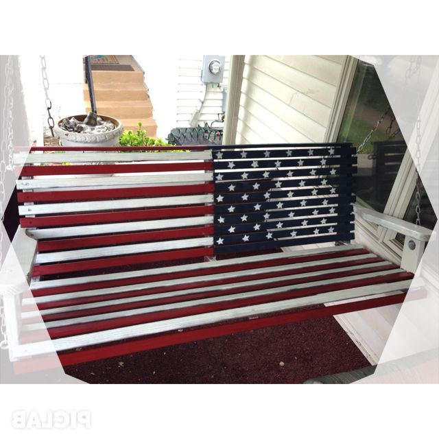 Featured Photo of American Flag Porch Swings