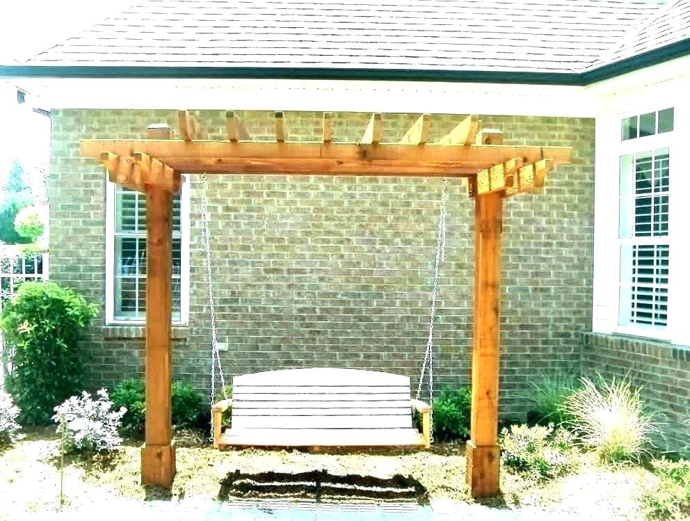 Pergola Porch Swings With Stand In Most Popular Porch Swing Pergola – Shopiaideas (View 7 of 20)