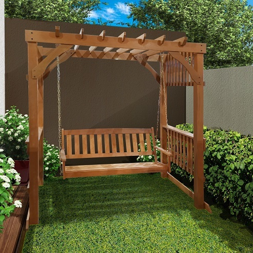 Pergola Swing (3 Seater) Throughout Recent 3 Seat Pergola Swings (View 8 of 20)