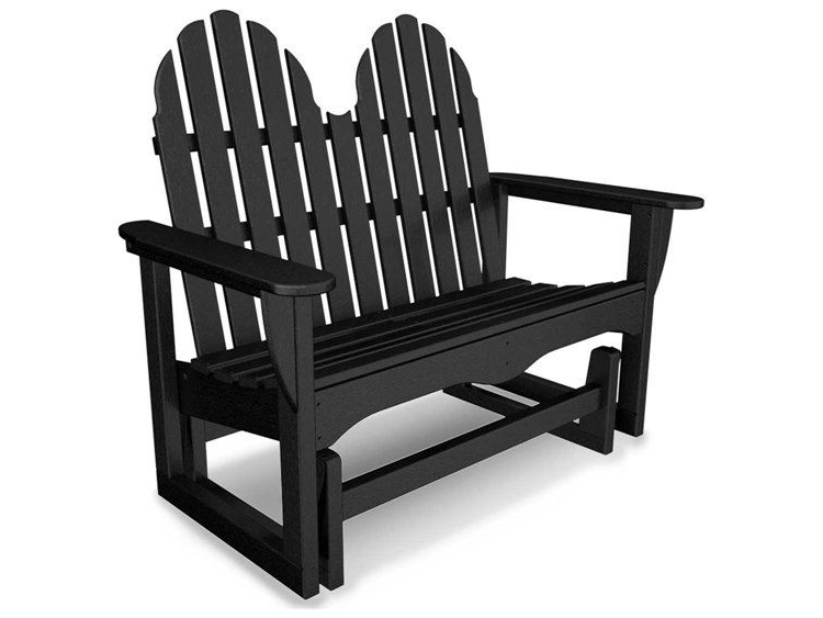 Polywood® Classic Adirondack Recycled Plastic 48 Glider With Regard To Favorite Classic Adirondack Glider Benches (Gallery 1 of 20)