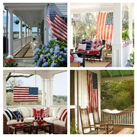 Popular American Flag Porch Swings With The Perfect Porch: An American Flag (View 13 of 20)