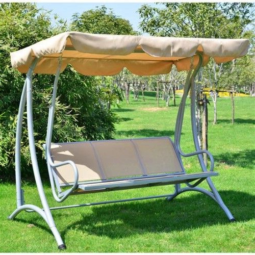 Popular Aos Patio Captiva 3 Person Canopy Swing (View 3 of 20)