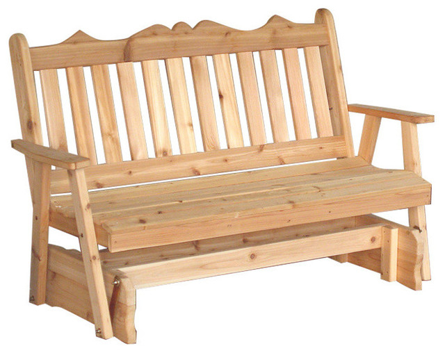 Popular Cedar Royal English 5' Glider Bench, Walnut With Traditional English Glider Benches (View 10 of 20)