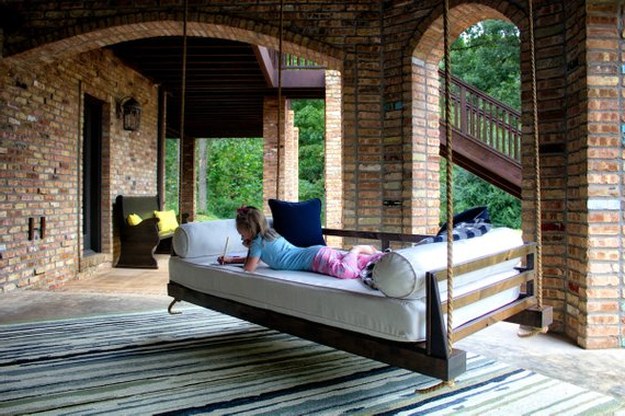 Popular Day Bed Porch Swings Pertaining To Piper Wood Twin Porch Swing Bed Daybed In (View 2 of 21)