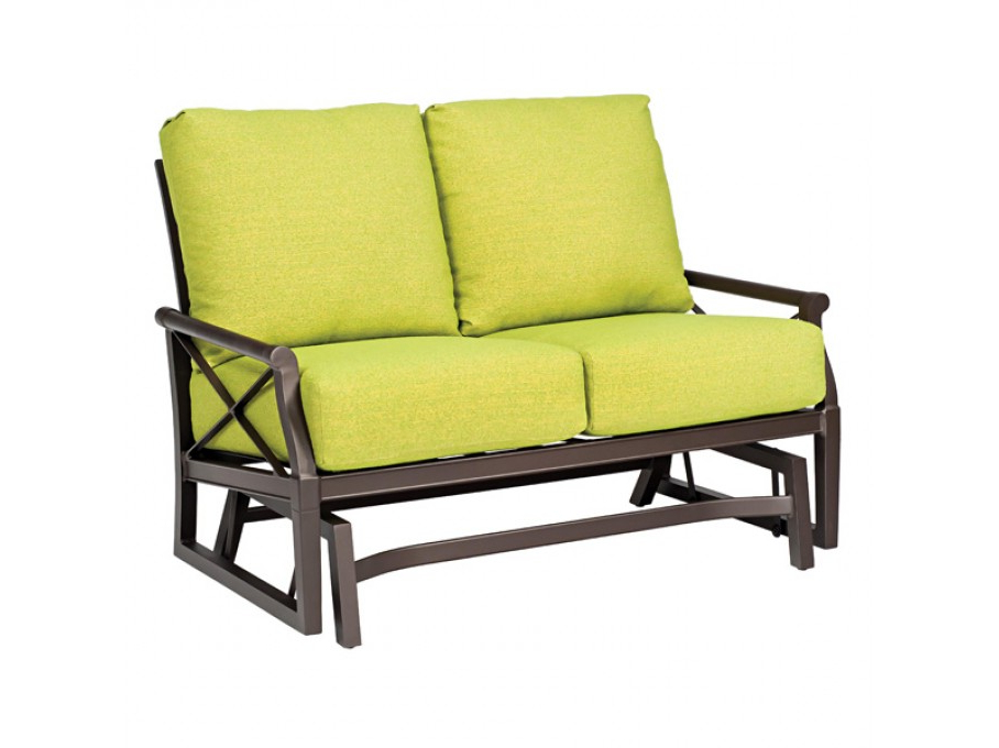 Popular Double Glider Loveseats Within Woodard Andover Love Seat Glider (View 9 of 20)