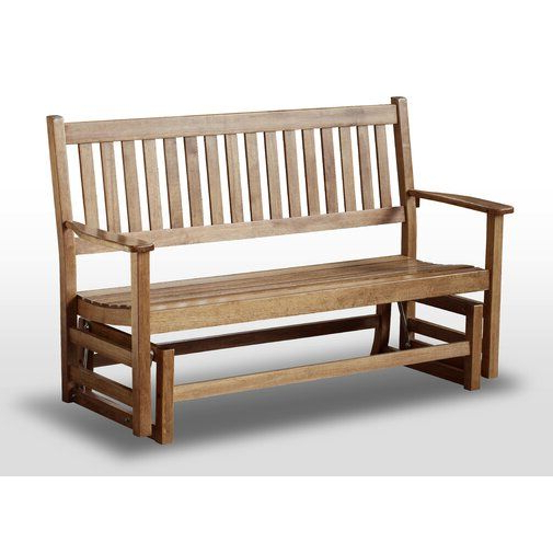 Popular Franklin Springs Hardwood Porch Glider Bench In 2019 In Hardwood Porch Glider Benches (View 2 of 20)