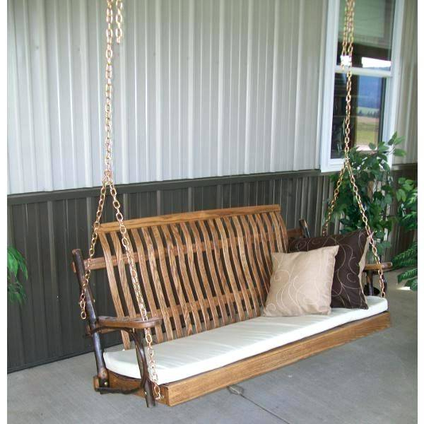 Popular Furniture Patio Outdoor Couch Swing Hickory Porch Swings Within Wicker Glider Outdoor Porch Swings With Stand (Gallery 8 of 20)