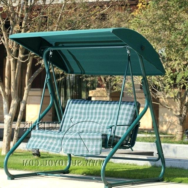 Popular Garden Leisure Outdoor Hammock Patio Canopy Rocking Chairs With Patio Hammock Chair – Sigpot (Gallery 7 of 20)