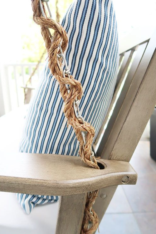 Popular How To Wrap A Porch Swing Chain With Rope (View 10 of 20)